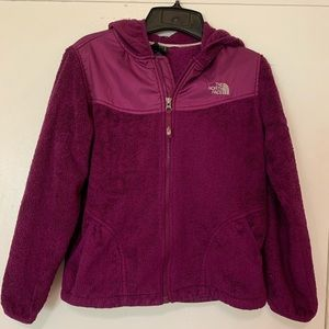Girls North Face Hoodie Jacket Fleece